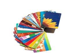 preprinted cards