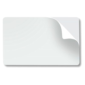 WHITE ADHESIVE CARDS