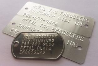 Metal tag embossers