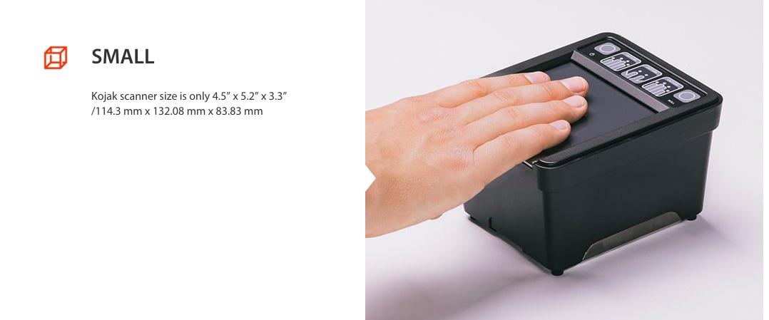 Kojak 442 finger scanner